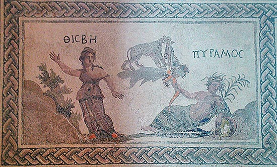Thisbe and Pyramus House of Dionysos